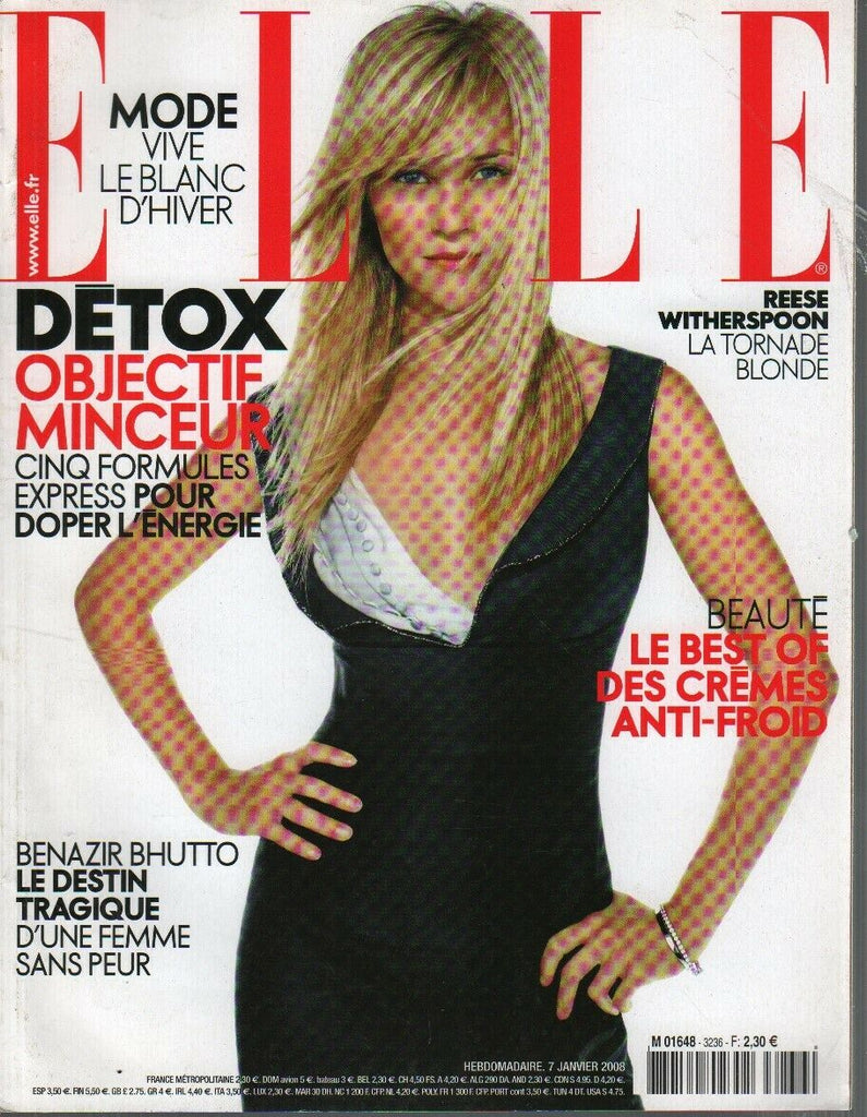Elle French Magazine Janvier 2008 January Reese Witherspoon 090919AME