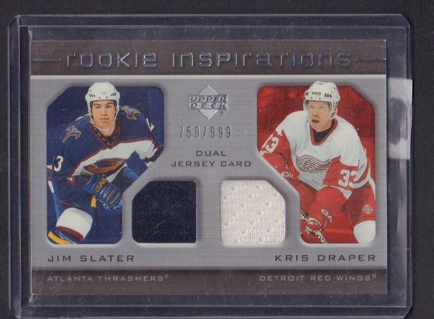 Kris Draper Jim Slater 2005-06 UD Rookie Inspirations Game Used jh59