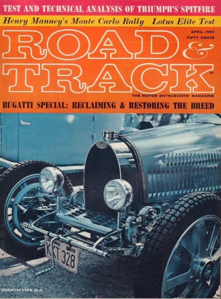Road & Track April 1963 Bugatti Erik Carlsson EB-247 011519DBE