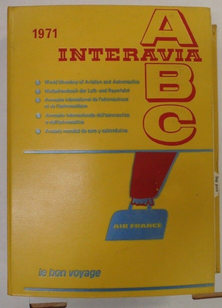 Interavia 1971 ABC World Directory Of Aviation & Astronautics exFAA 092418DBE
