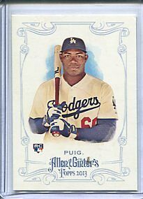 Yasiel Puig 2013 Allen & Ginter #44 Mini RC Rookie Card + Base RC Dodgers
