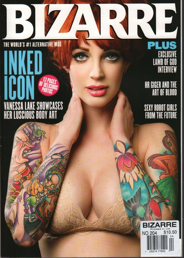Bizarre Alternative UK Magazine August 2013 Vanessa Lake Lamb of God 011720AME2