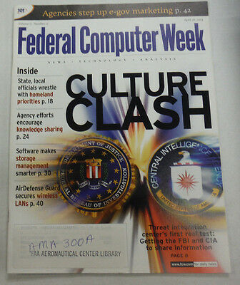 Federal Computer Week Magazine Culture Clash April 2003 071515R