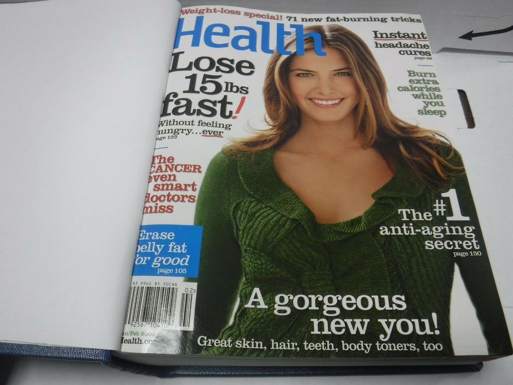 Health Magazine Vol 22 2008 Full Year 10 Issues Bound Hardcover 122118AME3