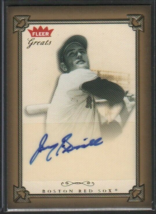 Jimmy Piersall Red Sox AUTOGRAPH Fleer Greats GBA-JIP 2004 Card 051519DBCD