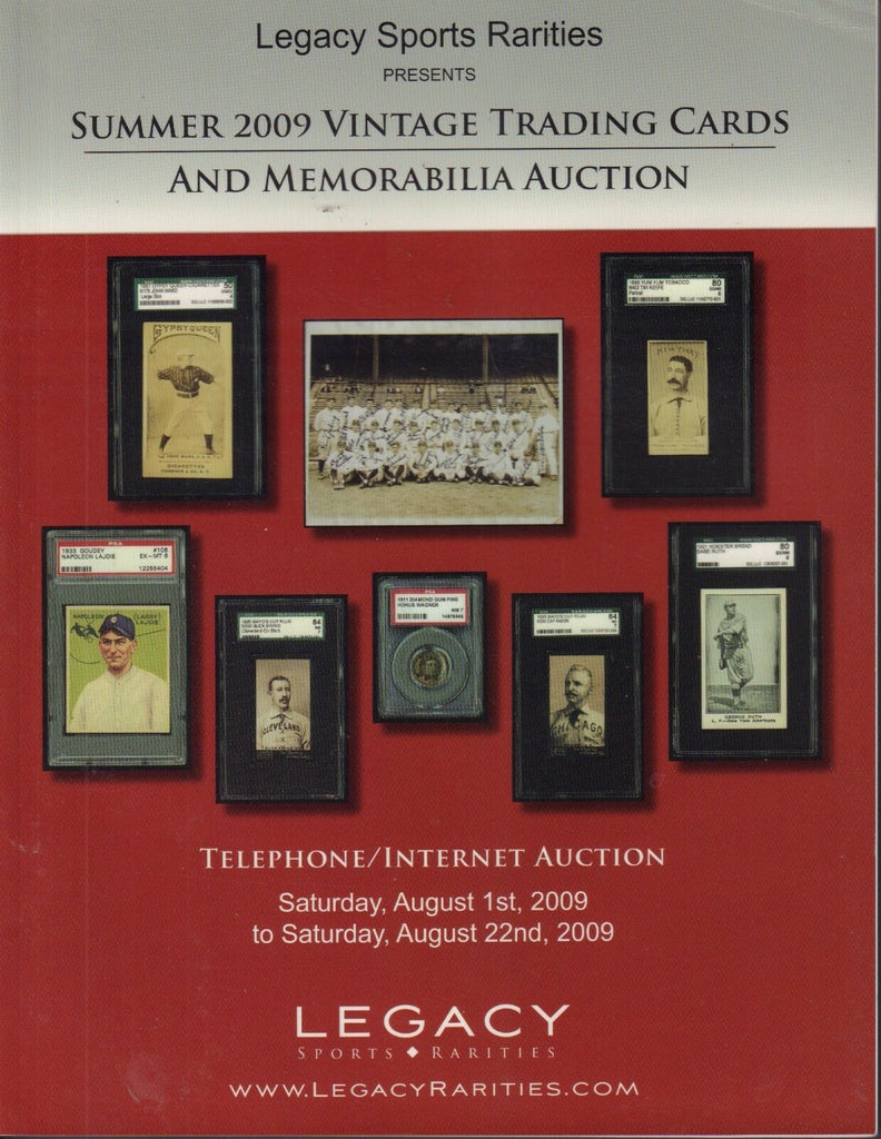 Legacy Sports Memorabilia Auction Catalog 2009 Nap LaJoie 082317nonjhe