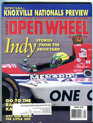 Open Wheel Magazine September 1987 Indy Stories Brickyard EX 021916jhe