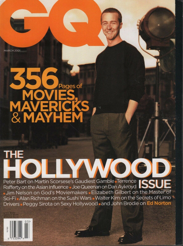 GQ Magazine March 2001 Edward Norton Jim Nelson Dan Aykroyd 081518DBE