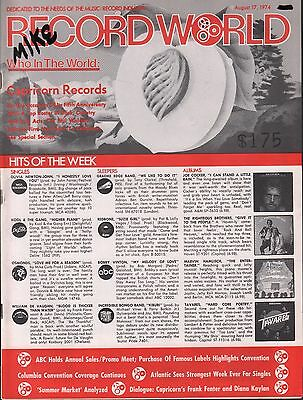 Record World August 17 1974 Capricorn Records EX 113015DBE3