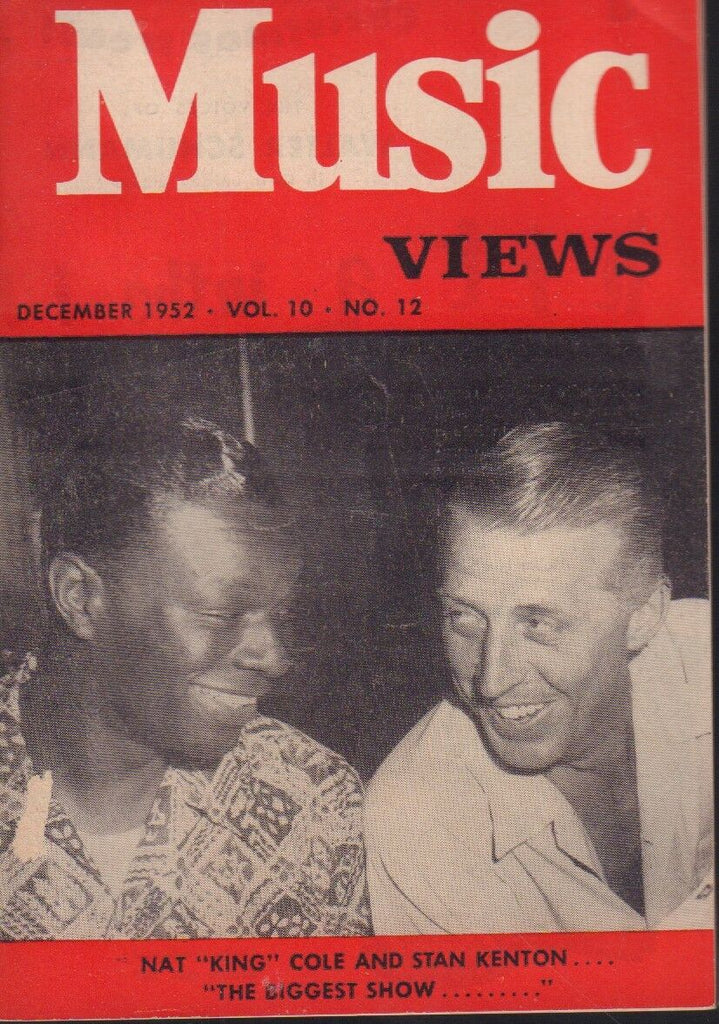 Music Views December 1952 Nat King Cole Stan Kenton Cheesecake 091718AME