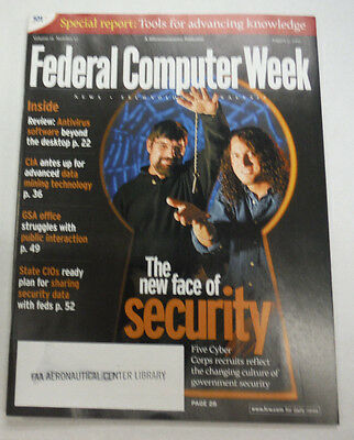 Federal Computer Week Magazine New Face Of Security August 2002 071515R