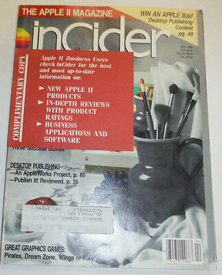 Apple InCider Magazine LLGs Paint Program April 1988 111514R