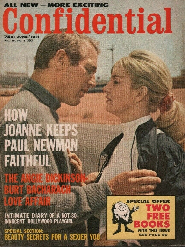 Confidential June 1971 Paul Newman Angie Dickinson Burt Bacharach 070919DBE