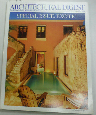 Architectural Digest Magazine Special Exotic Issue August 2006 063015R