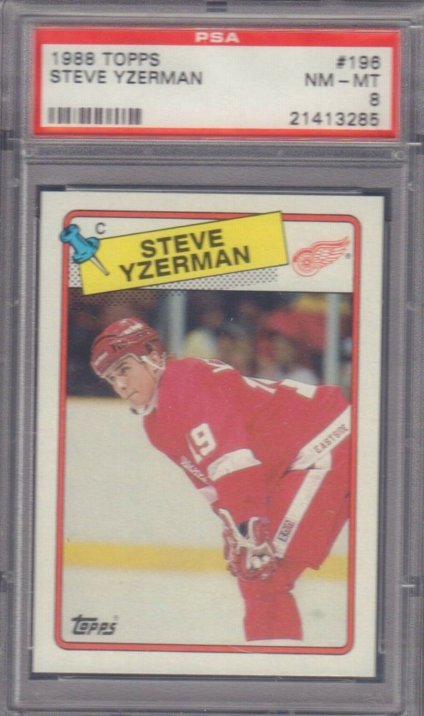 Steve Yzerman Detroit Red Wings 1988 Topps #196 PSA 8 012419DBT3