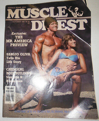 Muscle Digest Magazine Mr.America Sergio Oliva October 1981 110414R