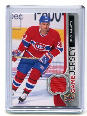 2014-15 UD Game Jersey Brian Bellows Canadiens #GJ-BB Jersey jh17