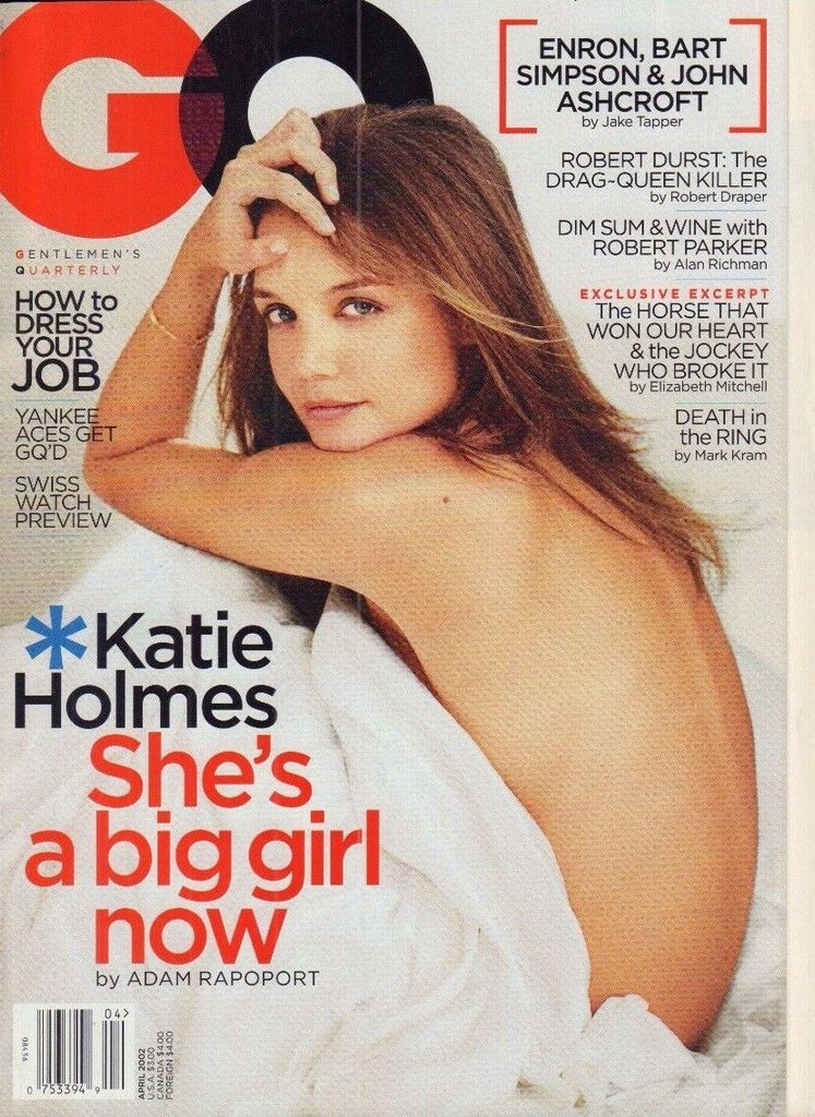 GQ April 2002 Katie Holmes, Bart Simpson 020917DBE2
