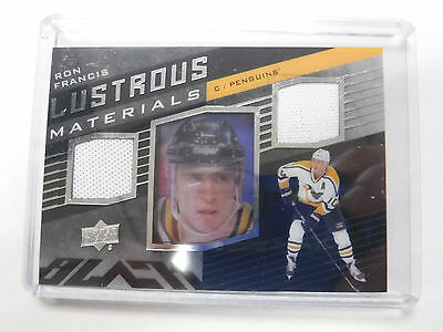 2014-15 UD Black Hockey Lustrous Materials Ron Francis Game-Used jh1