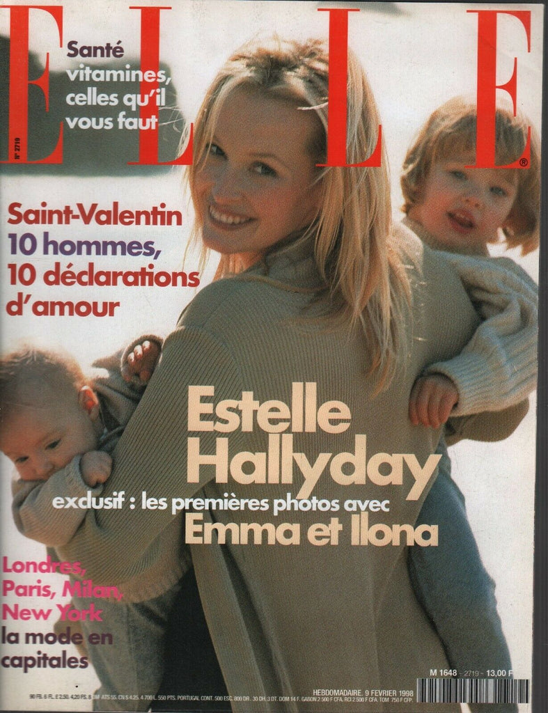 Elle French Magazine 9 Fevrier 1998 Estelle Hallyday Emma Fashion 091719AME2