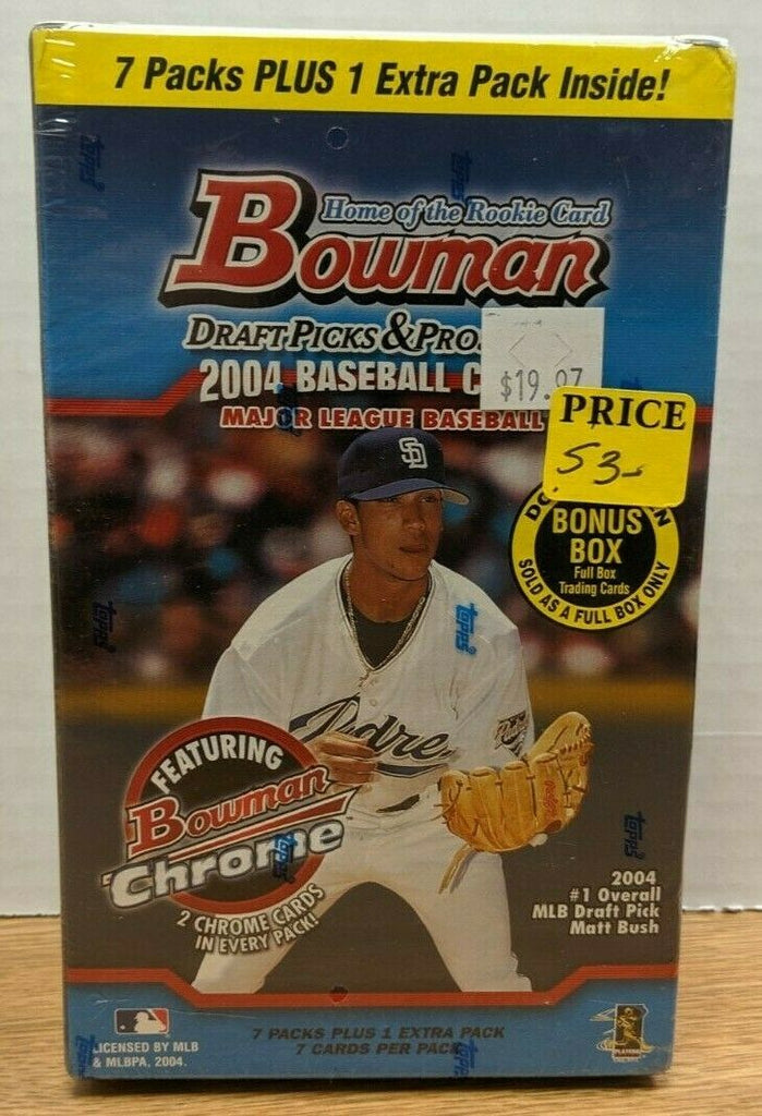 Bowman Draft Picks & Prospects 2004 Baseball Cards MLB Sealed 092719DBT2