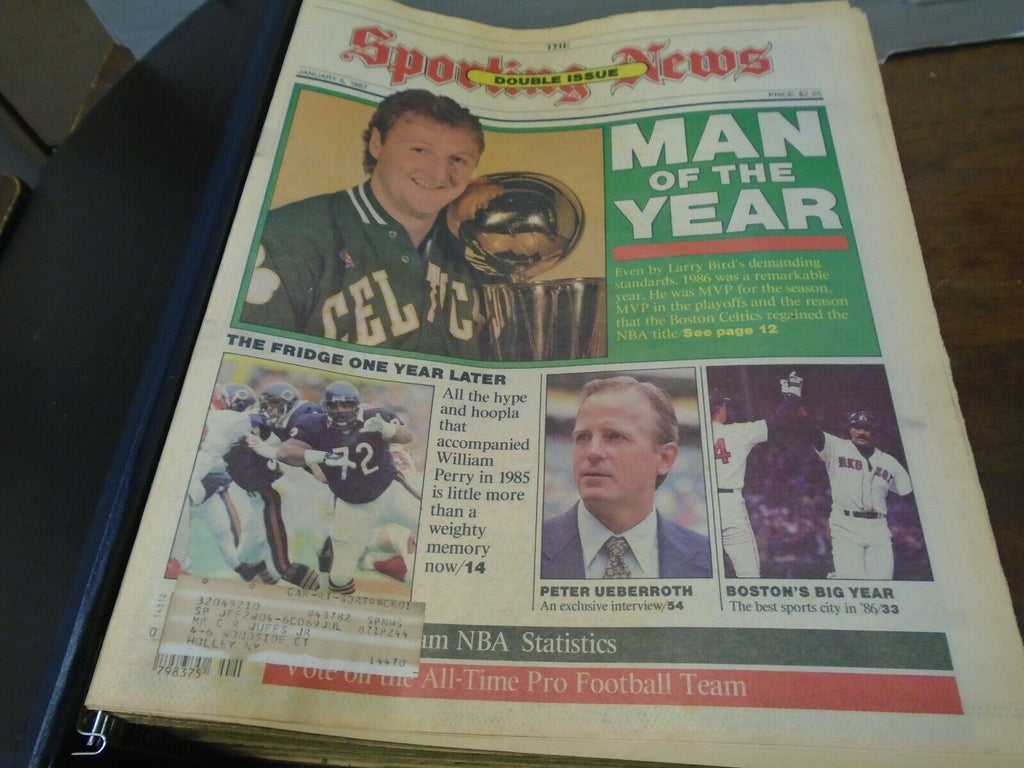 The Sporting News Magazine January-June 1987 26 Issues in Binder 123119SN2