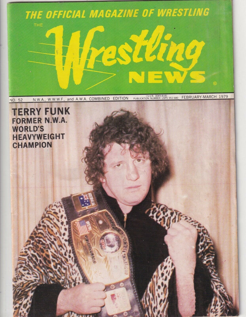 Wrestling News Mag Terry Funk Heavyweight Champion Feb/Mar 1979 091019nonr