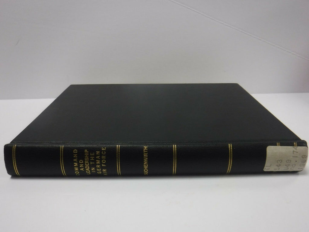 Command and Leadership in the German Air Force Suchenwirth 1969 Ex-FAA 121718AME