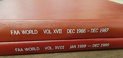 FAA World Vols XVII & XVIII 2 Books 1986-1988 Ex-FAA Book 051116ame4