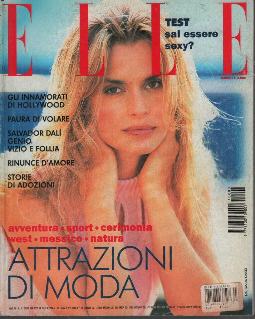 Elle Fashion Magazine Italian Marzo 1994 March Natasha Kinski 090919AME2
