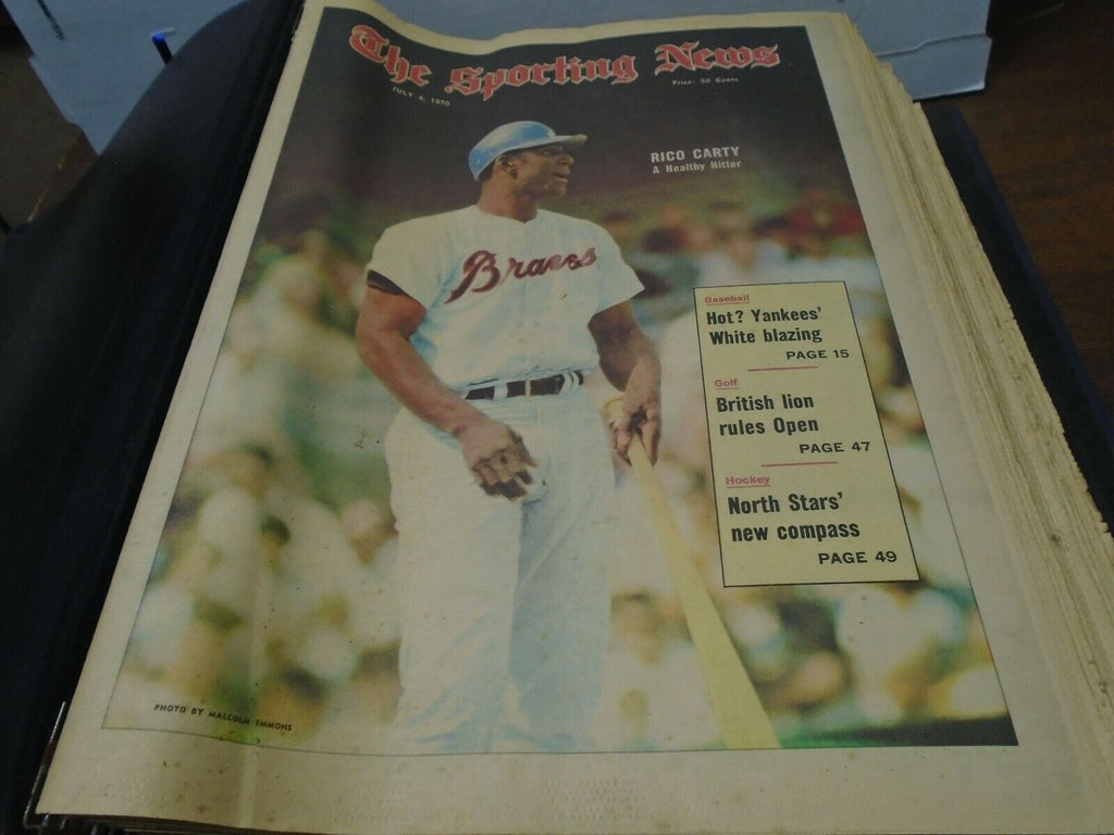 The Sporting News Magazine July-December 1970 26 Issues in Binder 123119SN2