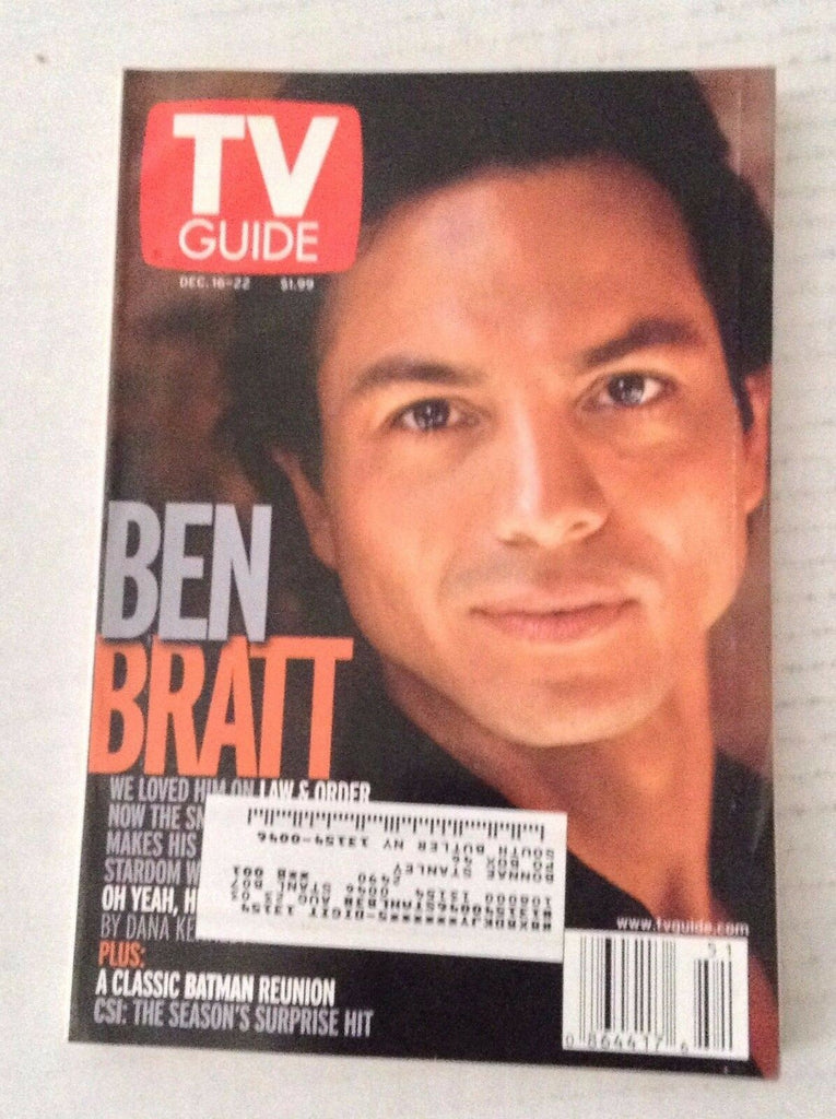 Tv Guide Magazine Ben Bratt Classic Batman December 16-22 2000 021717RH