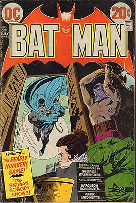 Batman No.250 The Deadly Numbers Game DC Comics VG 070116DBC