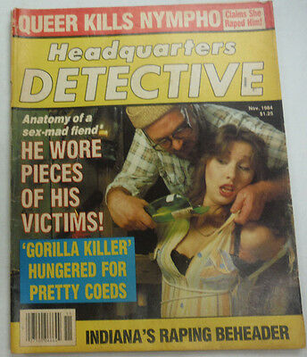 Headquarters Detective Magazine Gorilla Killer November 1984 062215R