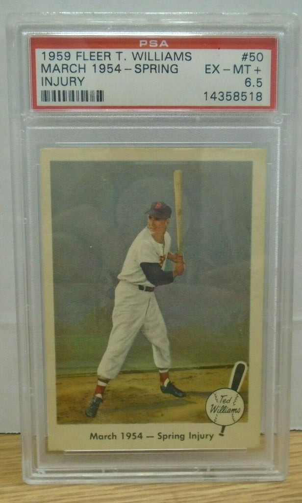 1959 Fleer Ted Williams March 1954 Spring Injury #50 PSA 6.5 080519DBCD