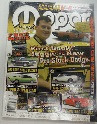Mopar Magazine Jeggie's New Pro-Stock Dodge March 2005 061915R