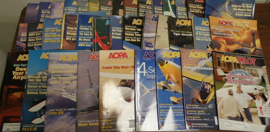AOPA Pilot Magazine Lot of 37 Issues from 1990s/2000s Great Articles 030919AML4