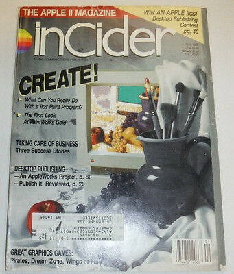 Apple InCider Magazine The First Look At PaintWorks Gold April 1988 111514R