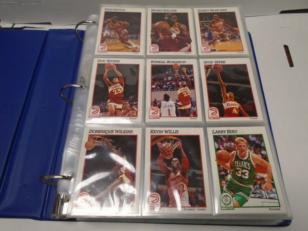 NBA Hoops 91'-92' Basketball Complete 590 Card Set w/Inserts MJ 121019AMCS