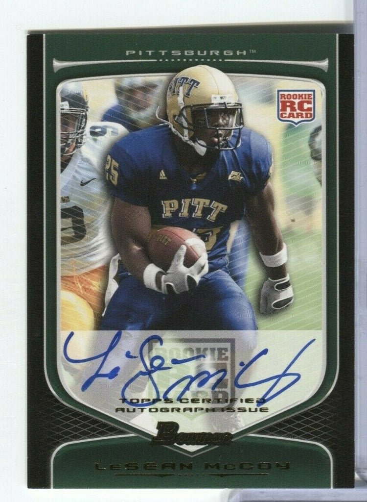Lesean McCoy RC Signed Pittsburgh 2009 Draft Stock Bowman #170 100219DBCD2