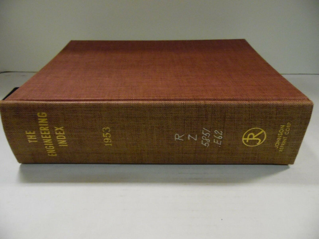 The Engineering Index 1953 American Society Mechanical Engineers FAA 102518AME6