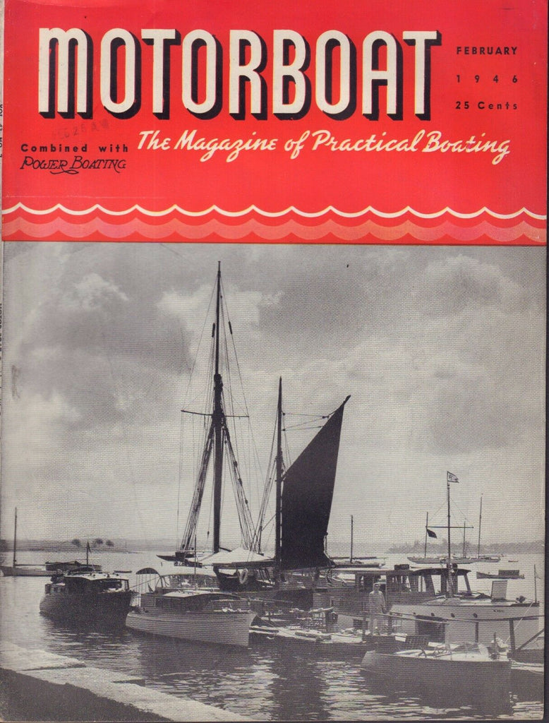 Motorboat February 1946 The Old Timers, Building Darwin 3 041817nonDBE