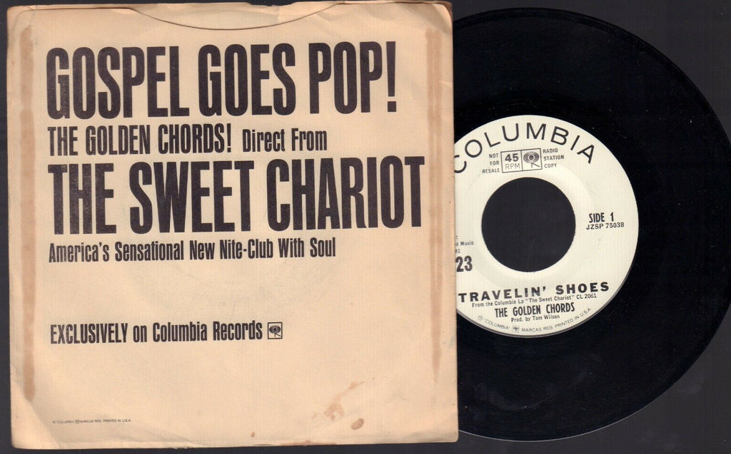 Gospel Goes Pop! The Golden Chords! Columbia Records WLP Promo 45RPM Vinyl 45AME