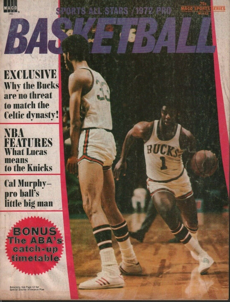 Sports All Stars Pro Basketball 1972 ABA John Havlicek Lew Alcindor 050719DBE2