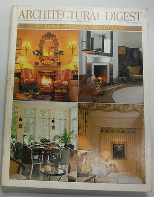 Architectural Digest Magazine Interior Designers' Houses Septeber 1999 070415R