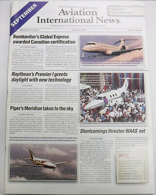 Aviation International News Magazine Bombardier September 1998 FAL 072115R