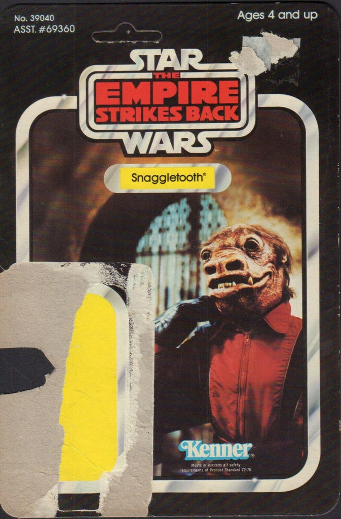 Snaggletooth Star Wars TESB Card Back Only KENNER 1980 031419DBT