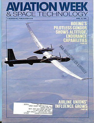 Aviation Week & Space Technology Magazine April 23 1990 EX FAA 030816jhe