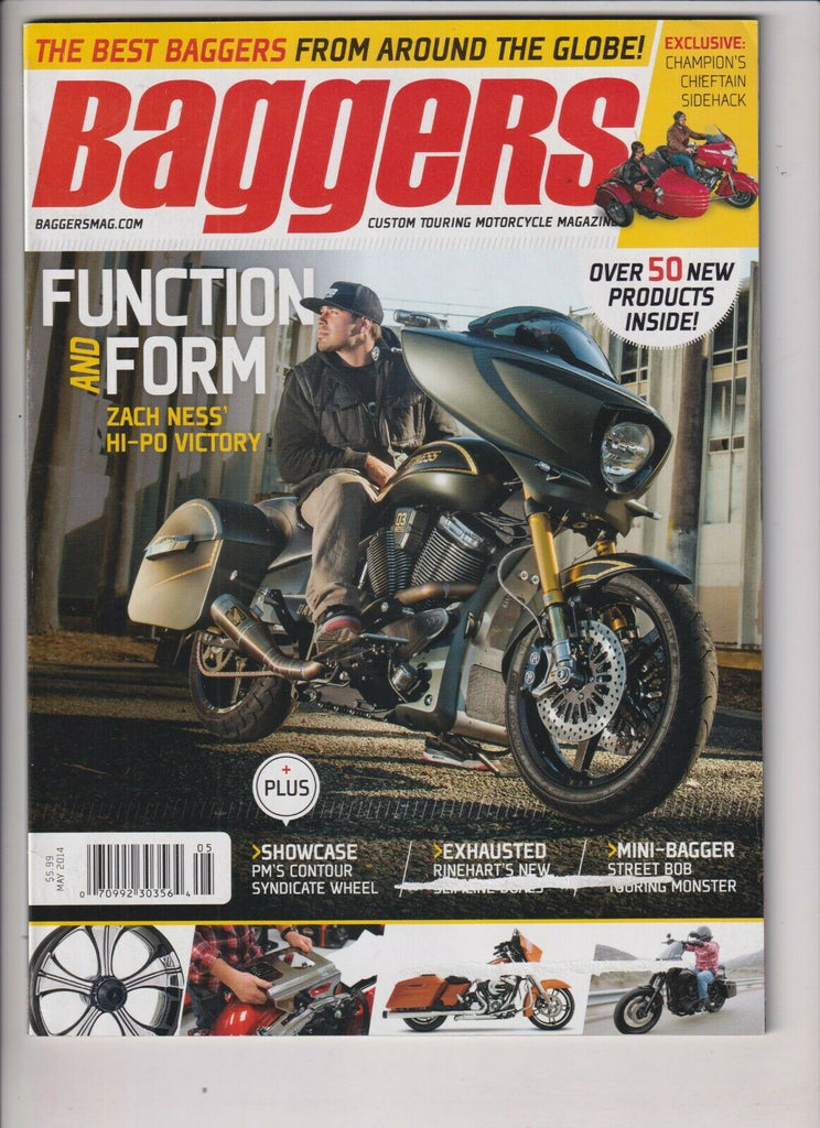 Baggers Motorcycle Magazine Zach Ness' Hi-Po Victory May 2014 112219nonr