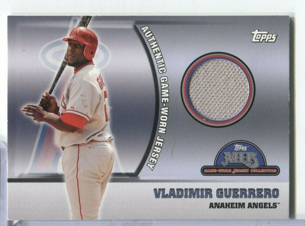 Vladimir Guerrero Angels Topps Jersey Card 2005 #37 100219DBCD2